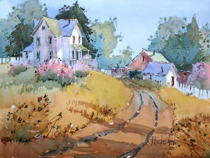 Joyce Hicks AWS-Transforming The Landscape In  Watercolor @ Franciscan Life Process Center - Lowell Campus | Lowell | Michigan | United States