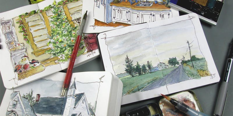 William Mancuso-Watercolor Sketchbook Workshop @ Franciscan Life Process Center